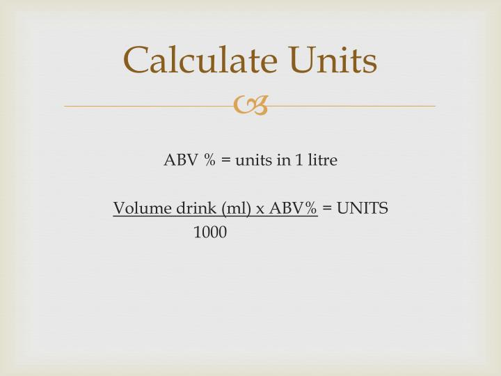 Calculate Units