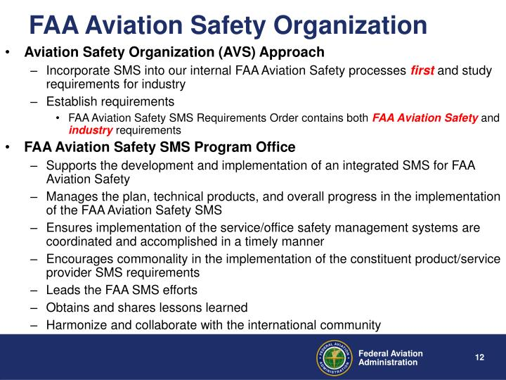 FAA Aviation Safety Organization