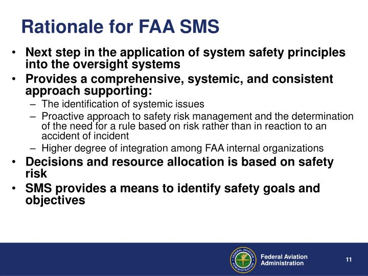 Rationale for FAA SMS