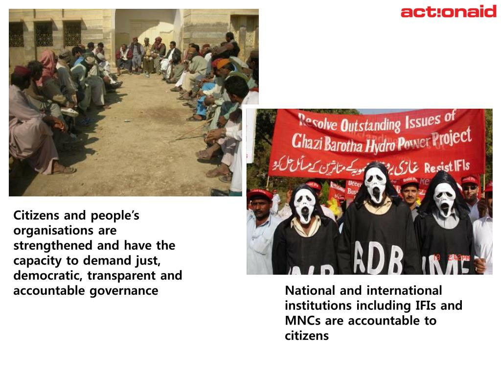 Citizens and people's organisations are