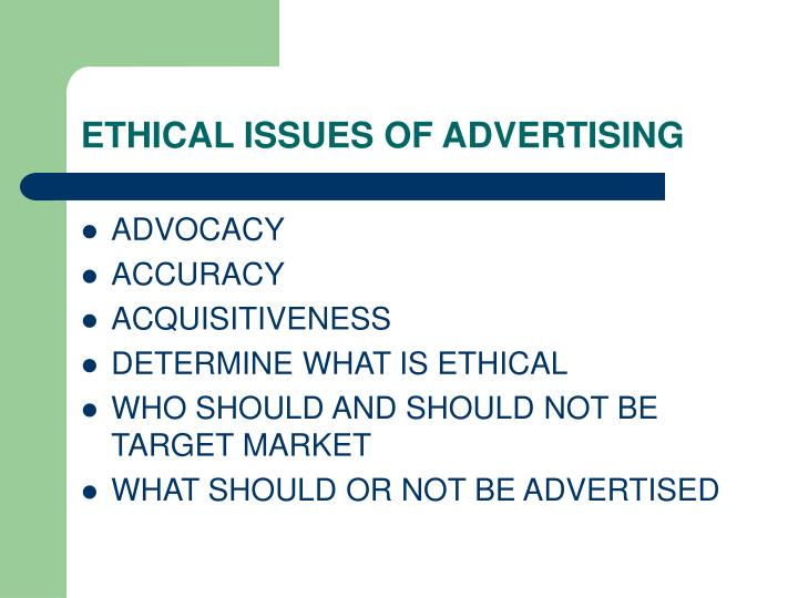 Ethical issues of advertising