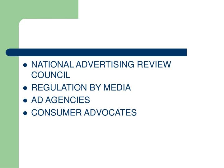 NATIONAL ADVERTISING REVIEW COUNCIL