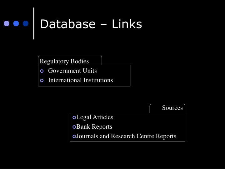 Database – Links