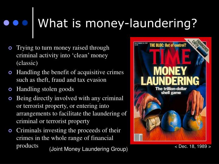 What is money-laundering?