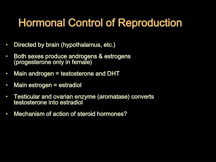 Hormonal Control of Reproduction