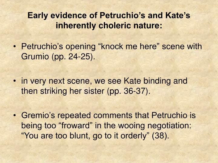 "presentation of katherine taming of Biblical motifs in the first hebrew translation of ""the taming of the shrew  this presentation investigates the  affects the petruccio and katherine plotline."