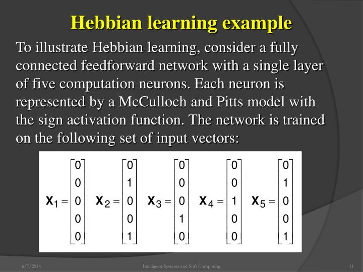 Hebbian learning example