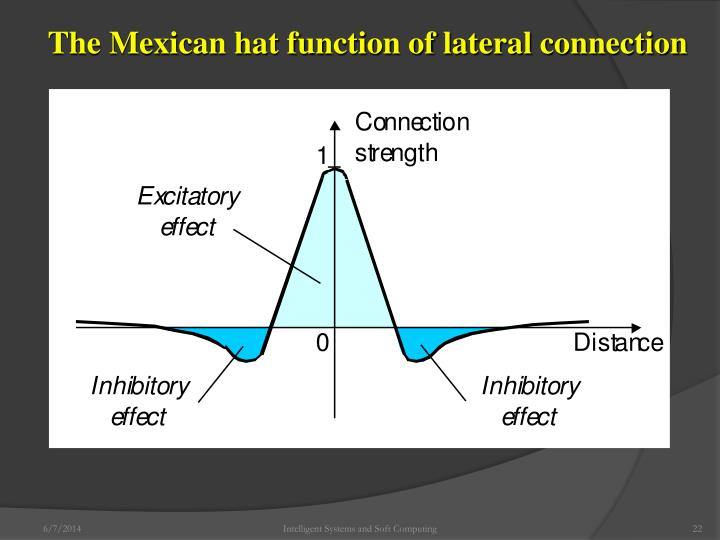 The Mexican hat function of lateral connection