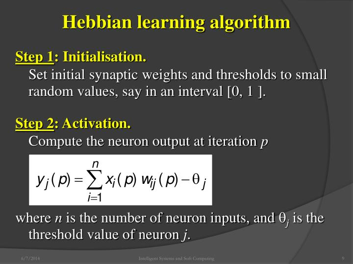 Hebbian learning algorithm