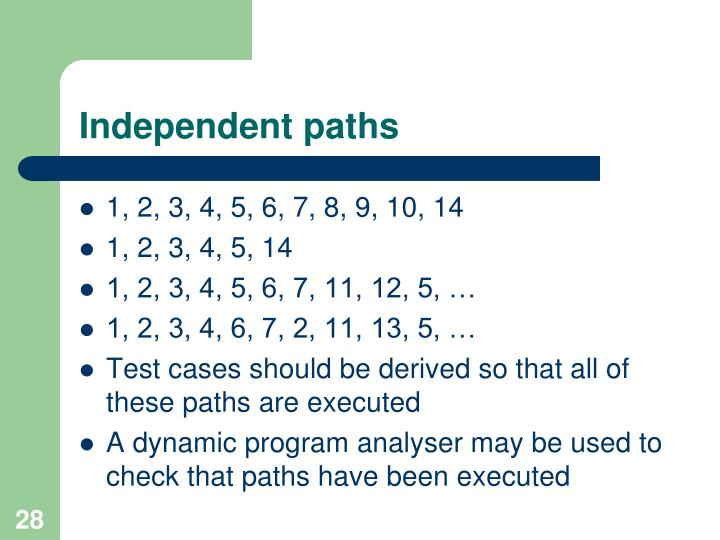 Independent paths