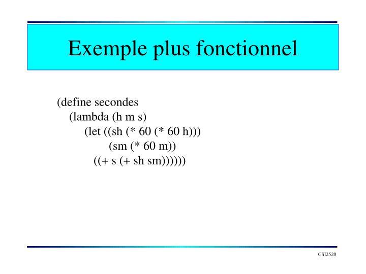 Exemple plus fonctionnel