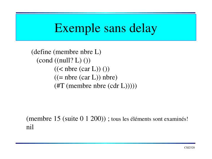 Exemple sans delay