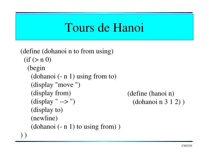Tours de Hanoi