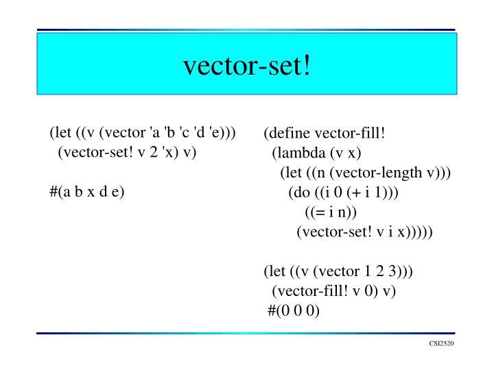 vector-set!