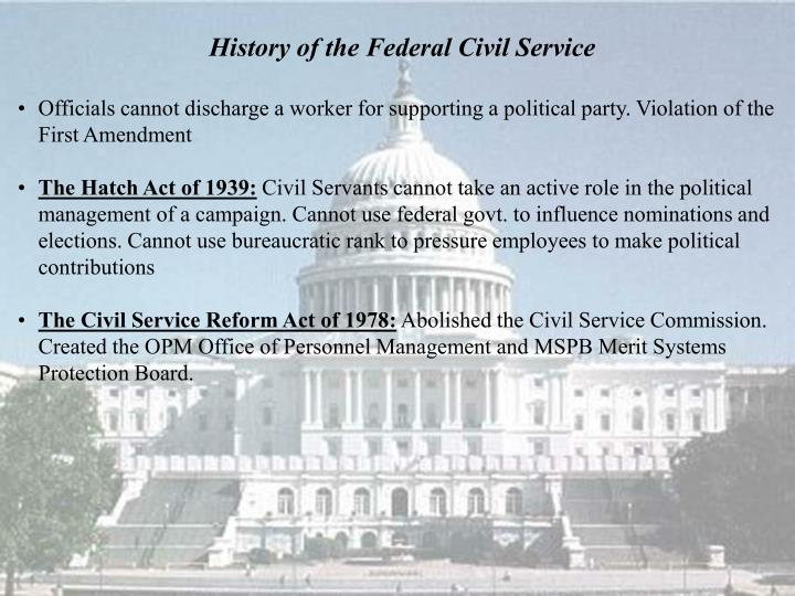 History of the Federal Civil Service