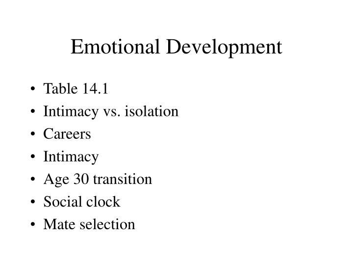 Emotional Development