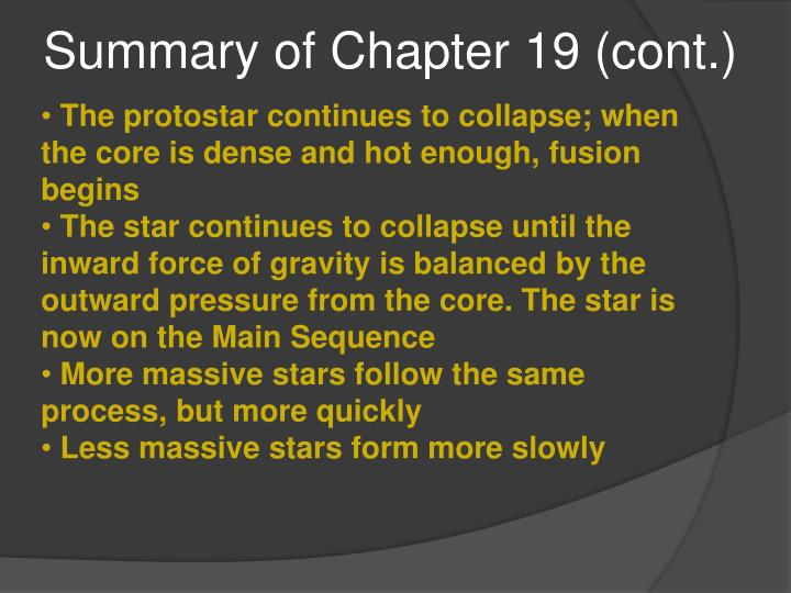 Summary of Chapter 19 (cont.)