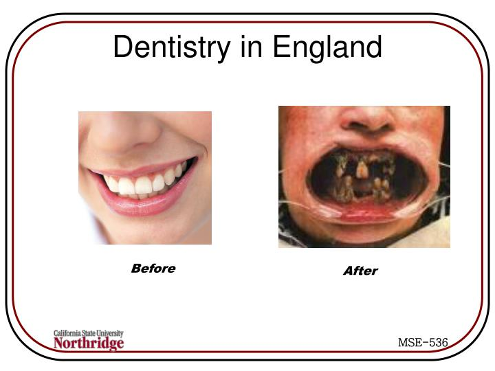 Dentistry in England
