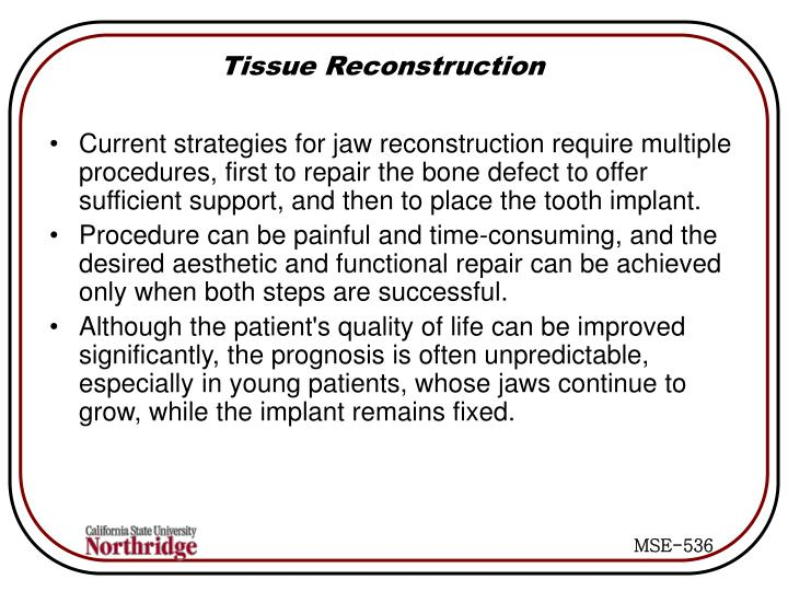 Tissue Reconstruction
