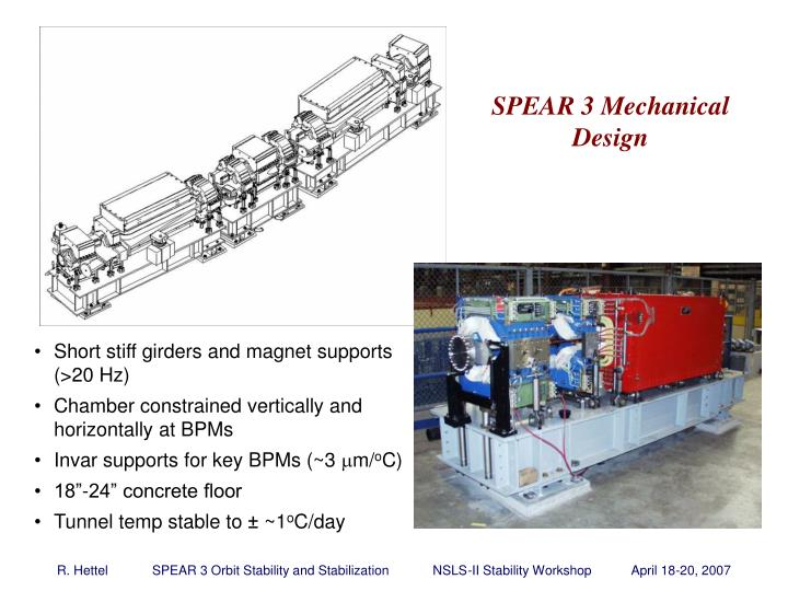 SPEAR 3 Mechanical Design
