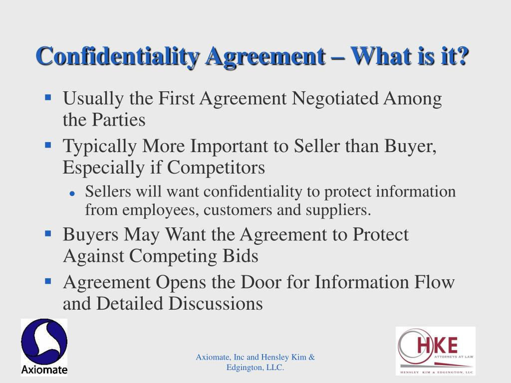 Confidentiality Agreement – What is it?