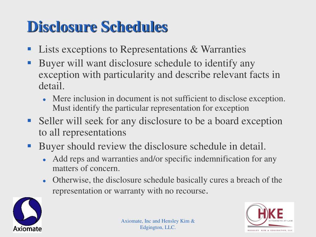 Disclosure Schedules