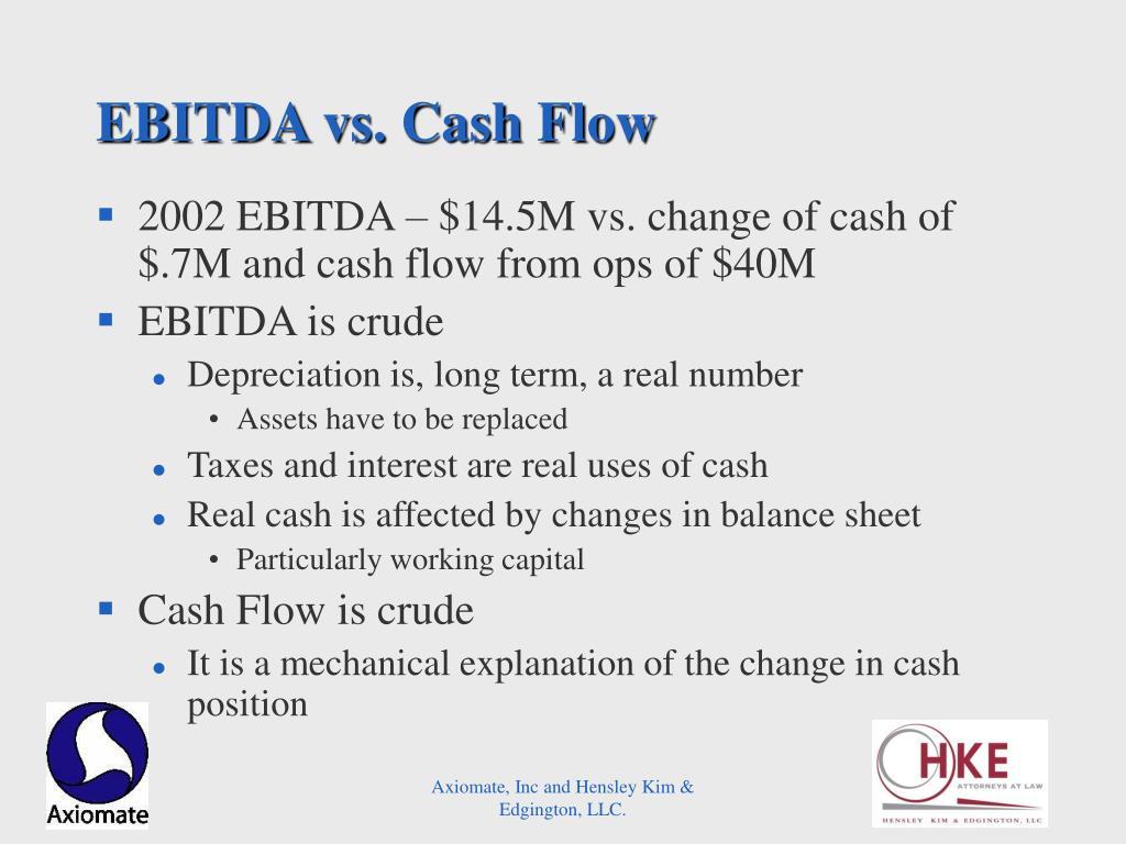 EBITDA vs. Cash Flow