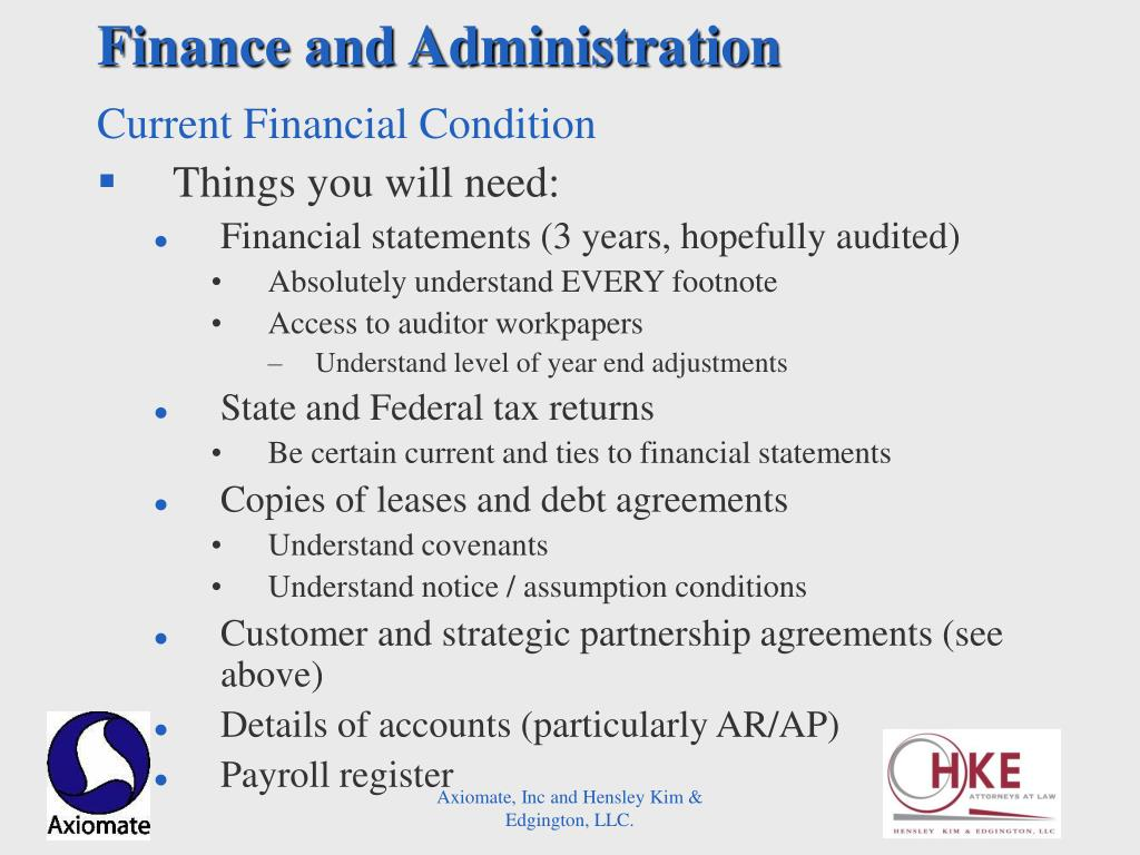 Finance and Administration