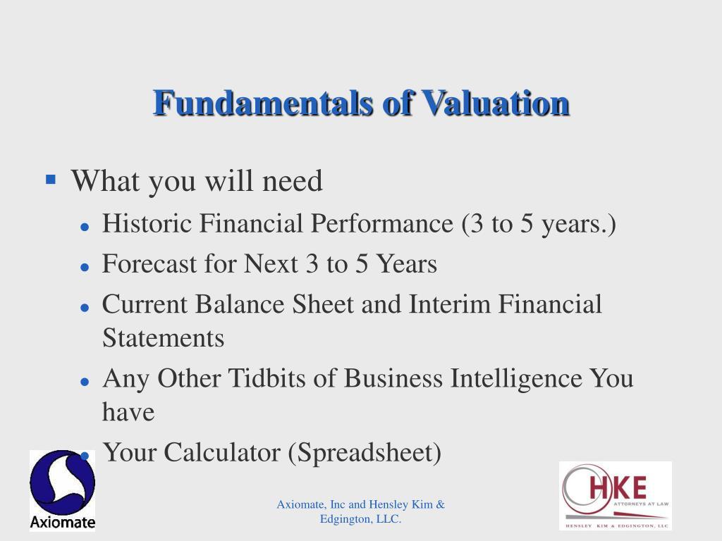 Fundamentals of Valuation