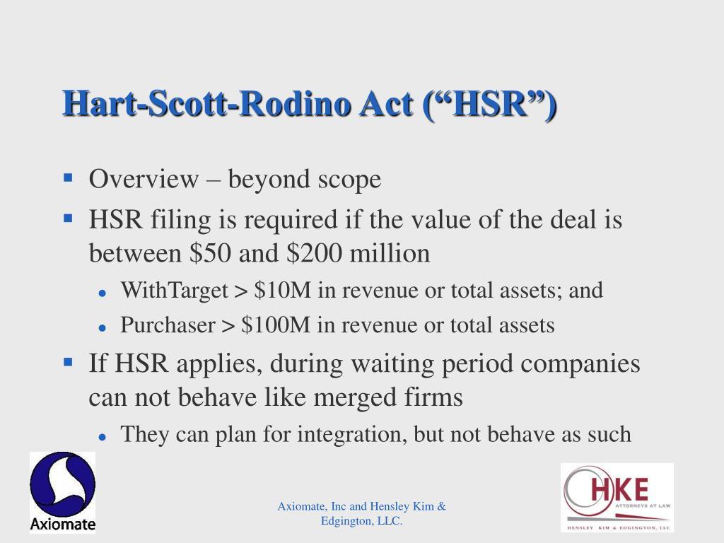 "Hart-Scott-Rodino Act (""HSR"")"