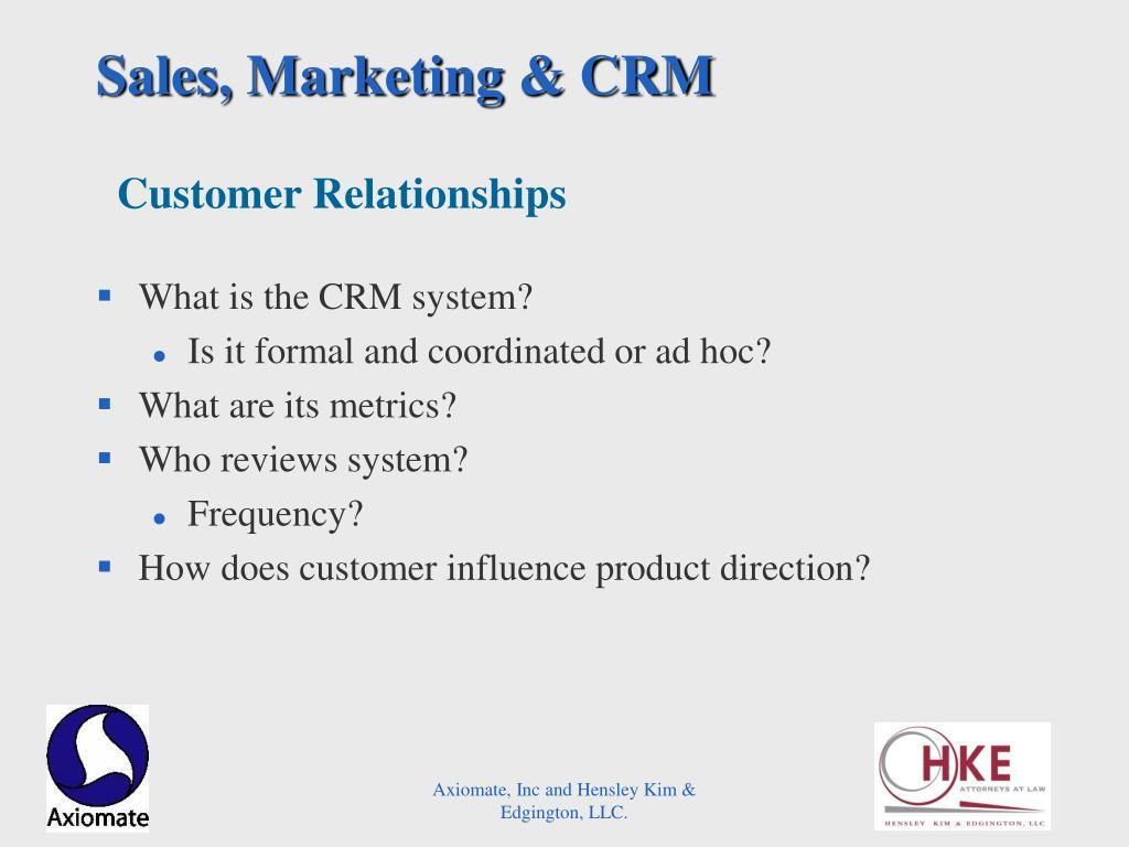 Sales, Marketing & CRM