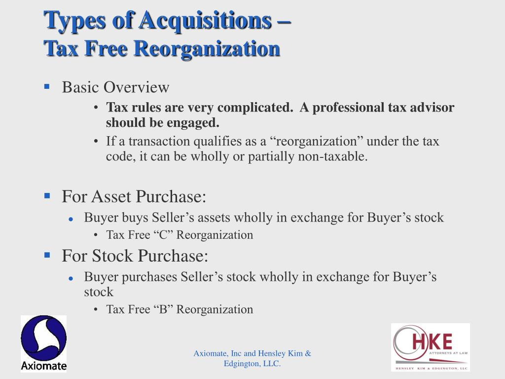 Types of Acquisitions –