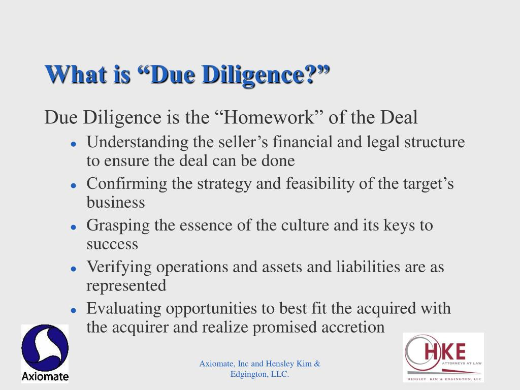 "What is ""Due Diligence?"""