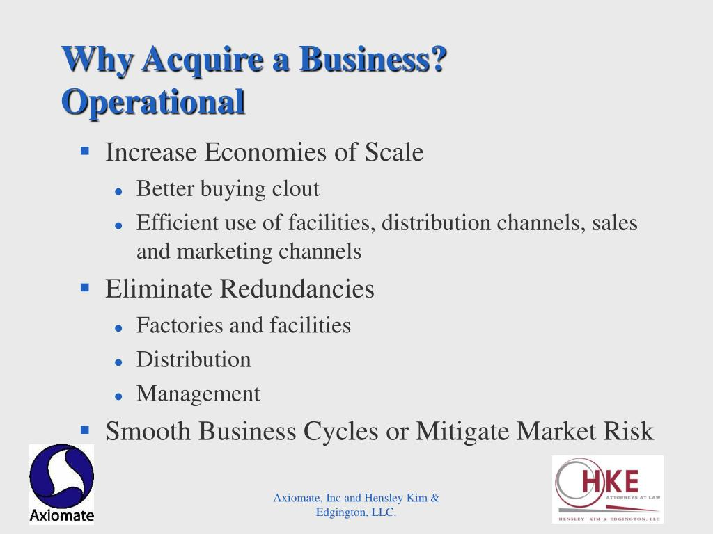Why Acquire a Business?