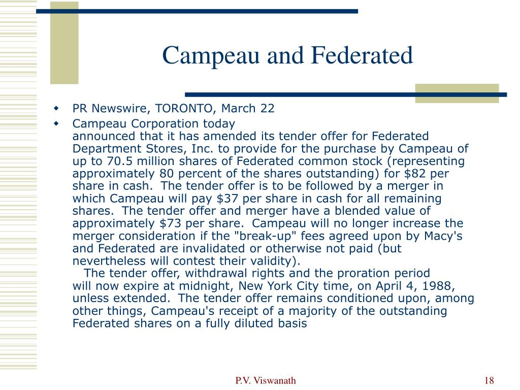 Campeau and Federated