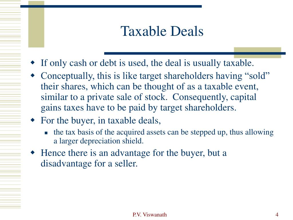 Taxable Deals