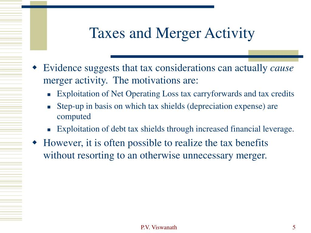 Taxes and Merger Activity