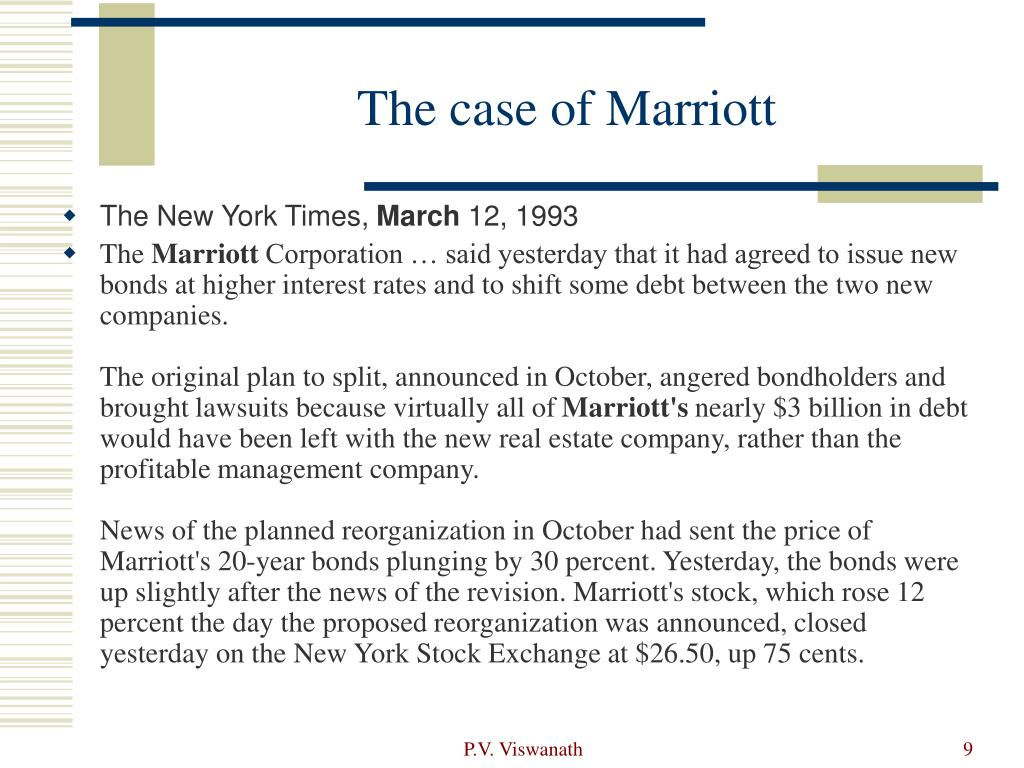 The case of Marriott