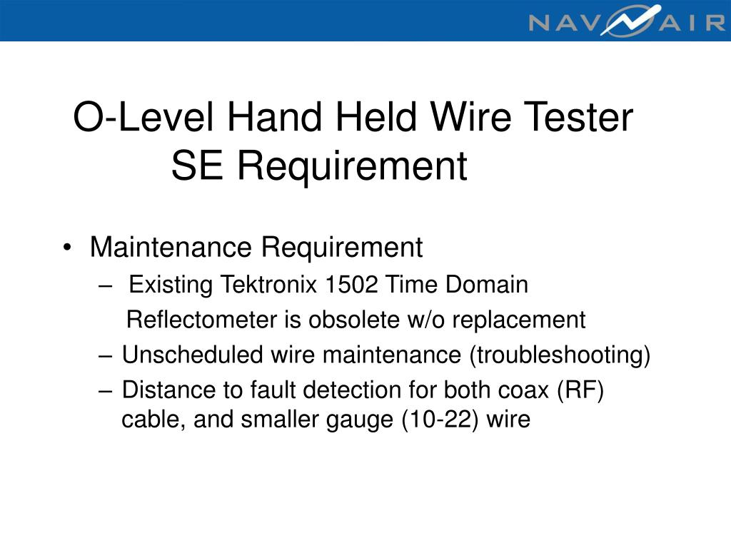 O-Level Hand Held Wire Tester
