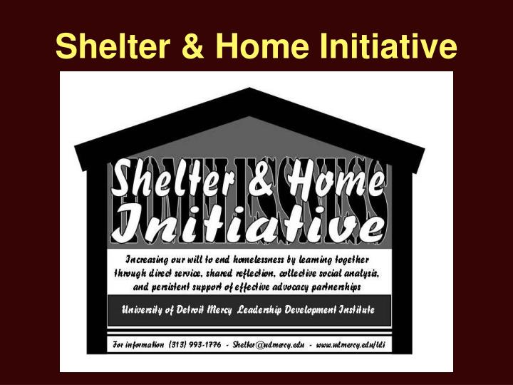 Shelter & Home Initiative