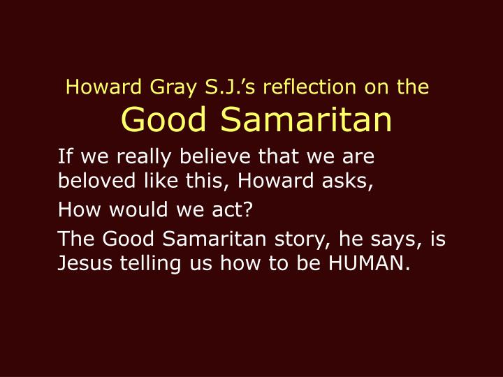 Howard Gray S.J.'s reflection on the