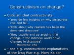 constructivism on change