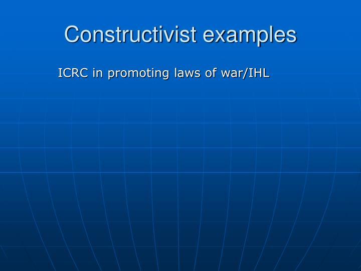 Constructivist examples