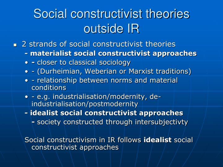 Social constructivist theories outside IR