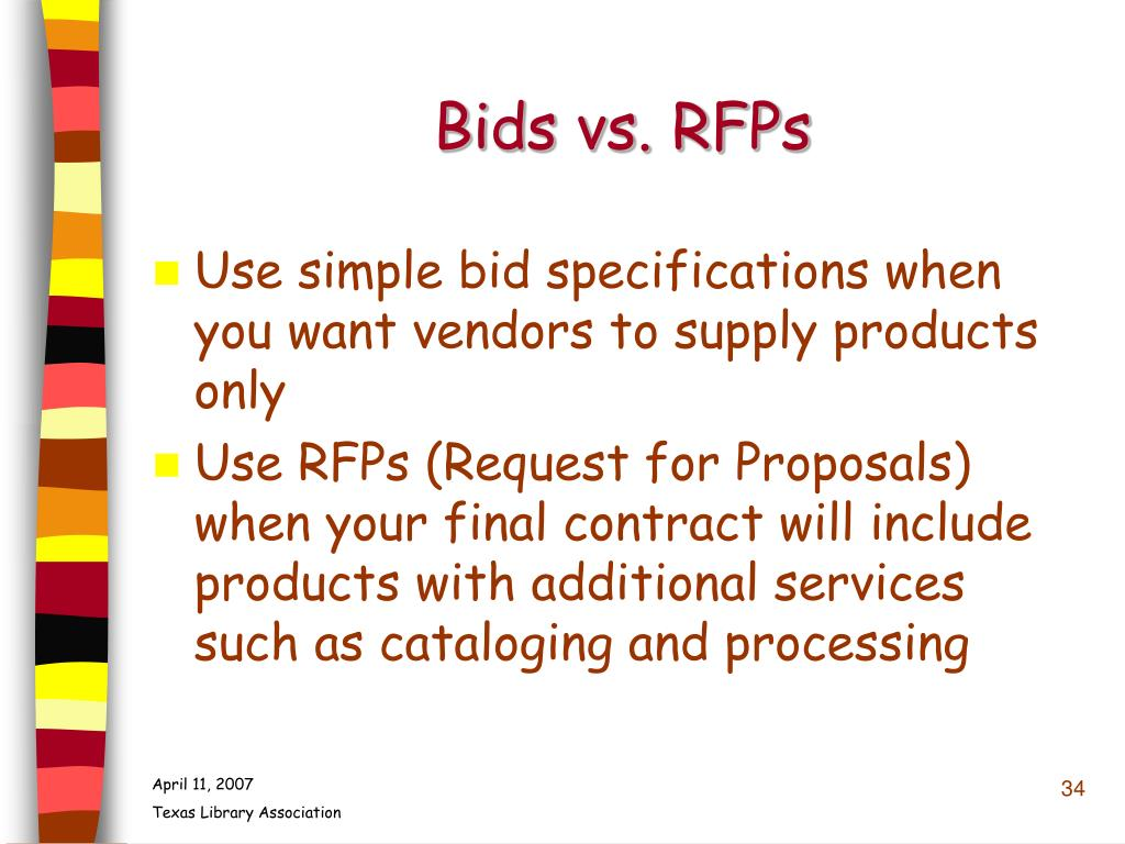 Bids vs. RFPs
