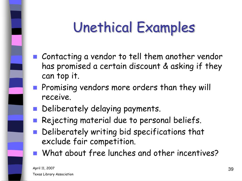 Unethical Examples