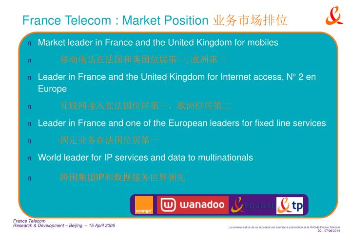 France Telecom : Market Position