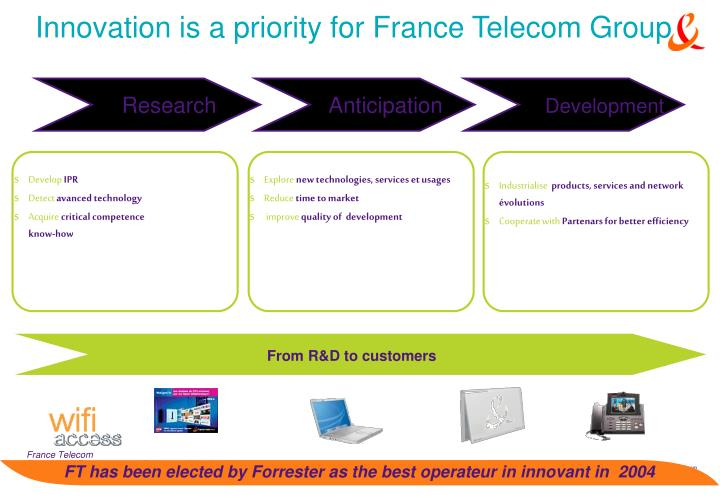 Innovation is a priority for France Telecom Group