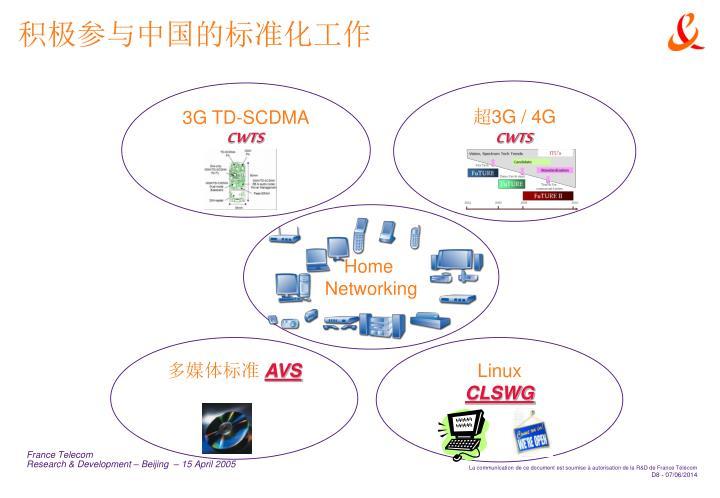 积极参与中国的标准化工作