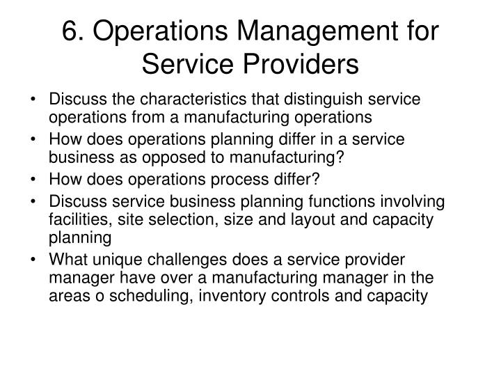 discussion answers chapter 11 operations management